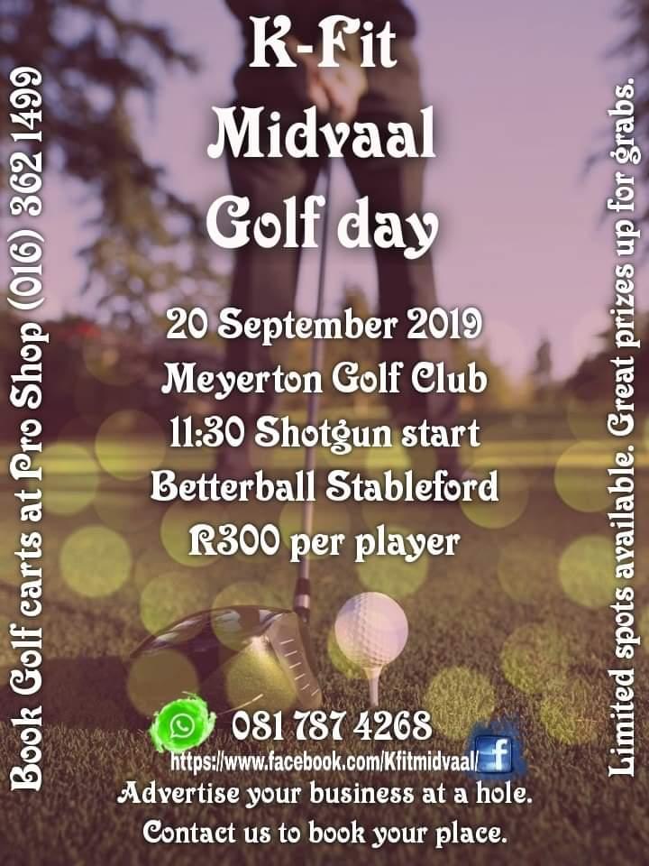 K-fit Midvaal Golf Day at Meyerton Golf Club 20 September 2019