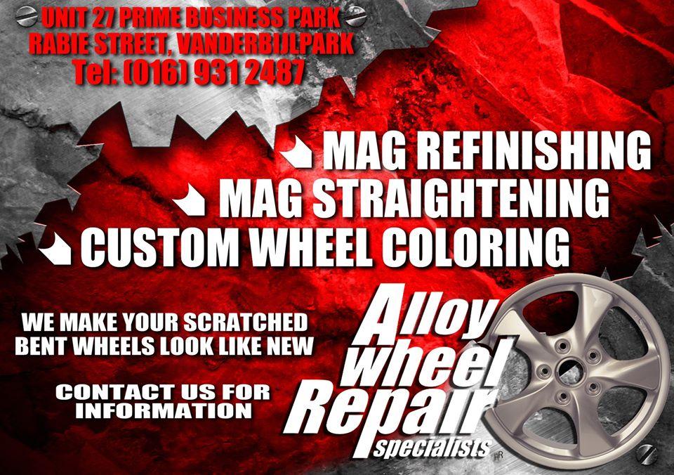 Alloy Wheel Repair Specialist Vanderbijlpark