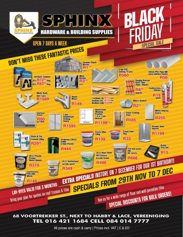 Sphinx Hardware and Building Supplies Vereeniging 1